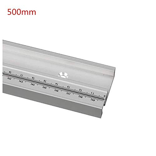 Belupai 500 mm Aleación de aluminio Pista en T Carpintero en T Ranura de inglete con escala