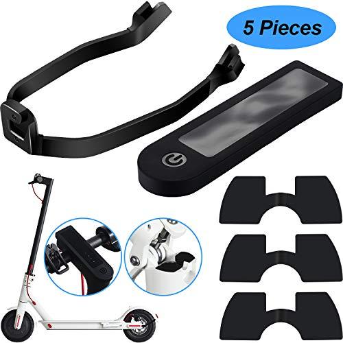 Boao 5 Piezas Accesorio de Repuesto de Scooter Incluye Soporte de Guardabarros y Cubierta de Silicona Resistente al Agua 3 Piezas Amortiguadores de Vibraciones de Goma para Xiaomi M365/ M365 Scooter