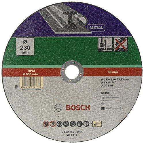 Bosch 2609256319 Corte del disco - Accesorios para amoladoras angulares (Corte del disco, Metal, Bosch, 2,22 cm, 23 cm, PWS 1900 PWS 2000-230 JE)