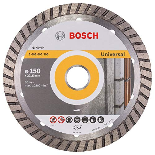 Bosch Professional - Disco de corte de diamante Estándar para Universal Turbo (piedra, 150 x 22.23 x 2.5 x 10 mm, accesorios para amoladoras angulares)