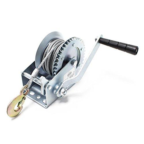 Cabrestante manual hasta 720kg 10m 4:1 Polipasto manual Torno de cable forestal Fuerza de tracción