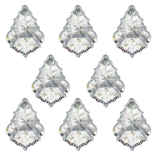 Christoph Palme Leuchten - Cristal de Swarovski, péndulo, barroco, 38 mm, 8 unidades, colgante, adorno para la ventana y accesorios para casas, atrapasoles, cristal arcoíris, Feng Shui, alto brillo