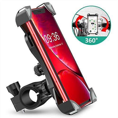 """Cocoda Soporte Movil Bici, 360° Rotación Soporte Movil Moto Bicicleta, Anti Vibración Porta Telefono Motocicleta Montaña Compatible con iPhone 11 Pro MAX/XS MAX/XR, Samsung S20 y Otro 4.5-7.0"""" Móvil"""