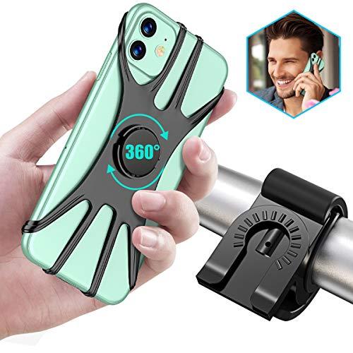 """Cocoda Soporte Movil Bici Desmontable, 360°Rotación Soporte Móvil Moto, Ajustable Soporte Teléfono Manillar Compatible con iPhone 11 Pro Max/11 Pro/11/XS/XS MAX, Samsung, Huawei (4.0""""-6.5"""")"""