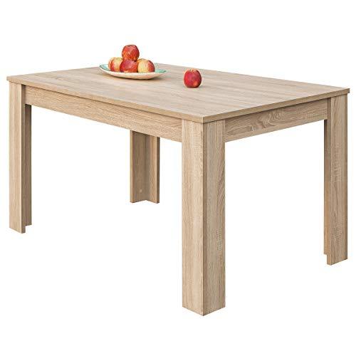 COMIFORT Mesa de Comedor- Mueble Extensible, de Estilo Moderno, Muy Resistente, con Medidas de 140/190 x 90 x 78 cm, Fabricado en Europa, Color Sonoma