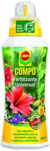 Compo Calidad para Plantas Ornamentales de Interior o terraza, Fertilizante líquido Universal con Extra de magnesio, 500 ml, 1433312011