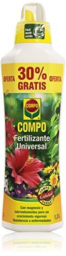 Compo - Fertilizante universal - Para plantas en interior, balcón y terraza - 1.3 l