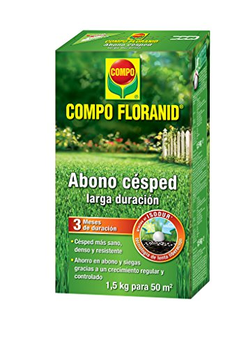 Compo FLORANID Abono césped Larga duración de hasta 3 mese, para 50 m², 1.5 kg