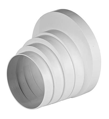 Conector de rosca reductor para tubo de ventilación universal, 100, 110, 120, 125 y 150 mm de diámetro