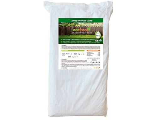 CULTIVERS Abono Ecológico Especial Césped de 25 Kg. Fertilizante de Origen Vegetal 100% Orgánico y Vegano Granulado de Liberación Lenta y Controlada con NPK 8-1-5+74% M.O. y Ác. Húmicos