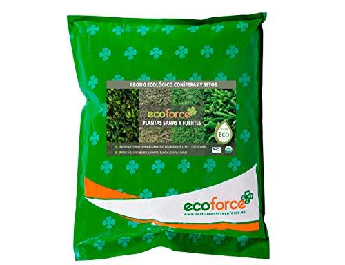 CULTIVERS Abono Ecológico Especial de 5 Kg Coníferas y Setos (Pinos, Abetos, Cipreses y Tuyas). Origen 100% Orgánico y Natural con Alta Concentración de NPK