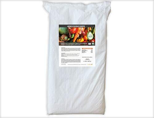 CULTIVERS Abono Ecológico Huerto de 25 Kg. Fertilizante de Origen 100% Orgánico y Natural Microgránulado. Mejora la Productividad de los Cultivos Liberación Lenta