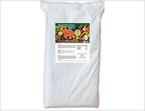 CULTIVERS Abono Ecológico para Frutales de 25 kg. Fertilizante de Origen 100% Orgánico y Vegano. Mayor Rendimiento y Aumento del Calibre del Fruto. De liberación Lenta y controlada