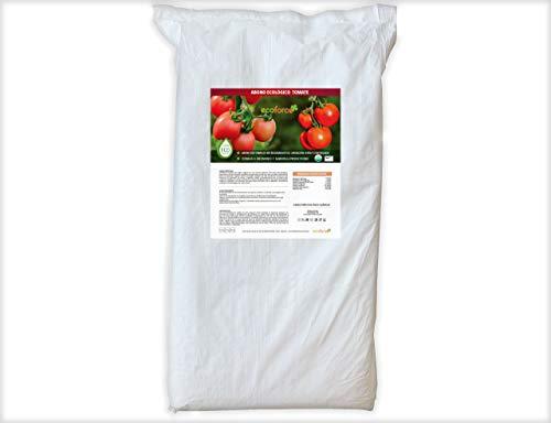 CULTIVERS Abono Ecológico para Tomate de 25 Kg. Fertilizante de Origen 100% Orgánico y Natural Microgránulado. Mejora la Productividad de los Cultivos Liberación Lenta
