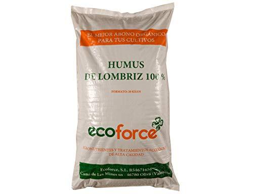 CULTIVERS Humus de Lombriz Ecológico 20 kg (40 L). Abono para plantas indicado para Césped. Fertilizante Orgánico 100% Natural. Reconstituyente del suelo