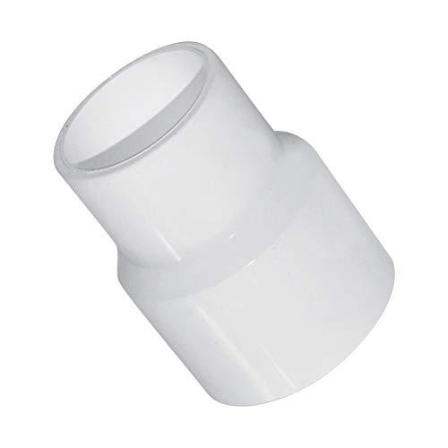 Daytwork Plástico Adaptador Conector Accesorios - Tubos PVC Blanco Tuberías Piezas Herramientas Agua Suministro Accesorios