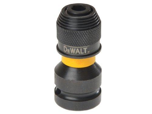 """DeWalt DT7508-QZ DT7508-QZ-Adaptador para Llaves de Vaso de Impacto de 1/2"""" a 1/4"""", Amarillo/Negro, 5.1 cm"""
