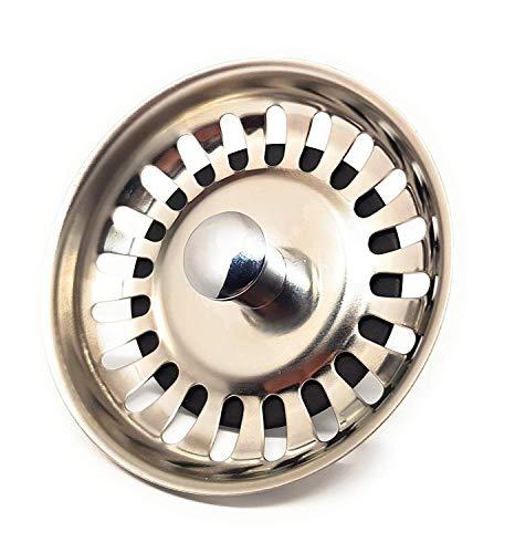 DigitalTech® - Colador rejilla universal para fregadero de acero inoxidable. Tapón para desagüe fregadero.