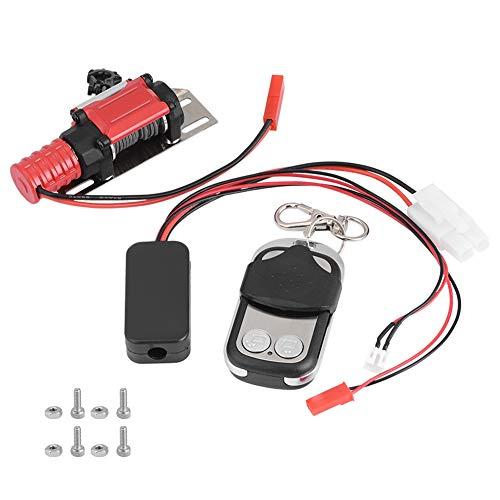 Dilwe Cabrestante de Coche RC, Veh¨ªculo Modelo RC 1/10 Escala Crawler Car Accesorio Cabrestante de Metal con Control Remoto