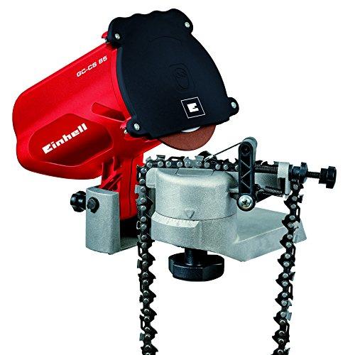Einhell GC-CS 85 - Afilador  para cadenas de motosierra, 85 W, ralentín 5500 min-1, portacedas de metal (ref. 4500089)