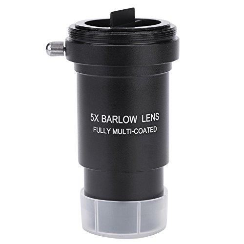 Exliy Lente Barlow, Lente Barlow 5X de 1.25 Pulgadas, Lente Barlow Multicapa con Interfaz de conexión de cámara de Rosca M42x0.75 para telescopio de 31.7 mm