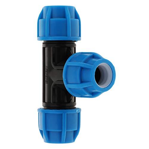 F Fityle Tubo T Unión Conector Neumática Empalmes Empuje Accesorios de Tubería PPR/PE/PVC Tubo - 20mm