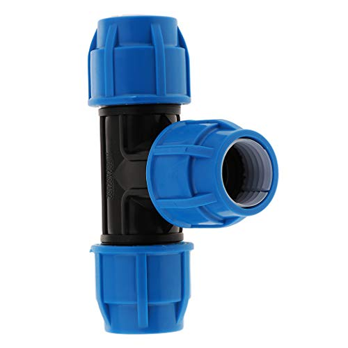 F Fityle Tubo T Unión Conector Neumática Empalmes Empuje Accesorios de Tubería PPR/PE/PVC Tubo - 32mm