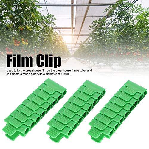 Fdit Clip de película de Invernadero de plástico 24Pcs Abrazadera Herramienta de jardinería Accesorios de Invernadero para Tubo de 11 mm