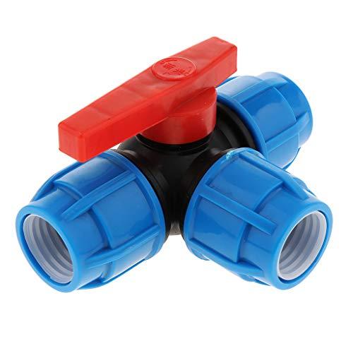 Fenteer 32/40 Mm Empuje Los Accesorios con Válvula Válvula En T Unión Unión Acoplador Irrigación Accesorios De Tubería Od Empuje Ajuste Herramientas De Aire H - Núcleo de plástico de 32mm