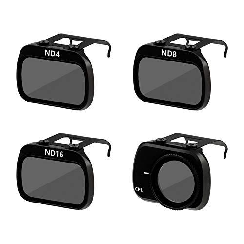 FEPITO de 4 Piezas compatibles con Mavic Mini Drone, ND4, ND8, ND16, CPL Filtros de Lente de cámara Filtros Multicapa para Mavic Mini Lente de cámara, Mavic Mini Accesorios