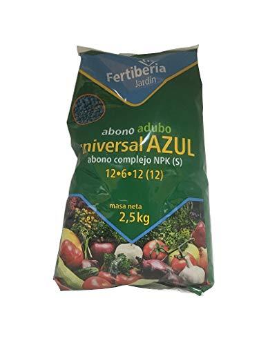 FERTIBERIA Abono granulado 2,5Kg Universal Azul para Todo Tipo de Plantas