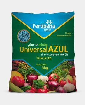 FERTIBERIA Abono granulado 5Kg Universal Azul para Todo Tipo de Plantas