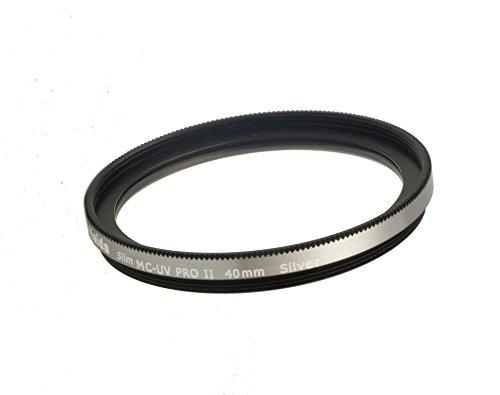 Filtro de HAIDA Slim PRO II MC UV PLATA para Fujifilm X10 / X20 / X30 - Hilo especial 40mm para el uso directo - Hecho de vidrio óptico de alta calidad