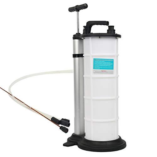 FreeTec Manual Extractor de Fluido de Aceite de Vacío Bomba de Mano para Transferencia de Combustible de Gasolina de Motor de Coche, 9 Litro