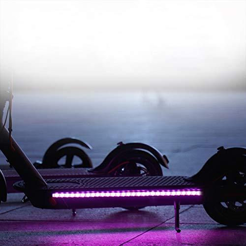 Frontoppy Lámpara de Barra de luz de Tira LED Plegable para Xiaomi Mijia M365 Scooter eléctrico monopatín, luz Decorativa de Seguridad para Ciclismo Nocturno