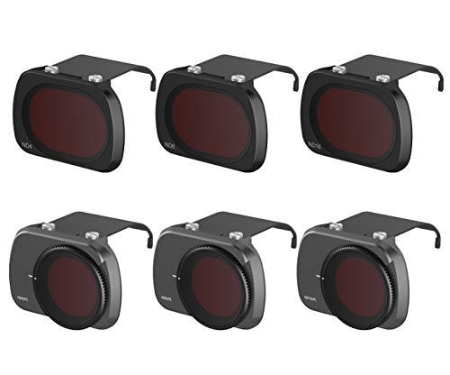 Fstop Labs Filtros de Lente para dji Mavic Juego de Lentes de Mini cámara, Paquete de filtros Multicapa Accesorios (Paquete de 6) Nd4, Nd8, Nd16, Nd4 / Cpl, Nd8 / Cpl, Nd16 / Cpl