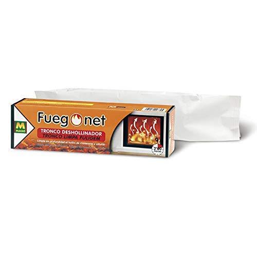 FUEGO NET Fuegonet 231168 Tronco Deshollinador, Marrón, 27.7x7.7x7.7 cm