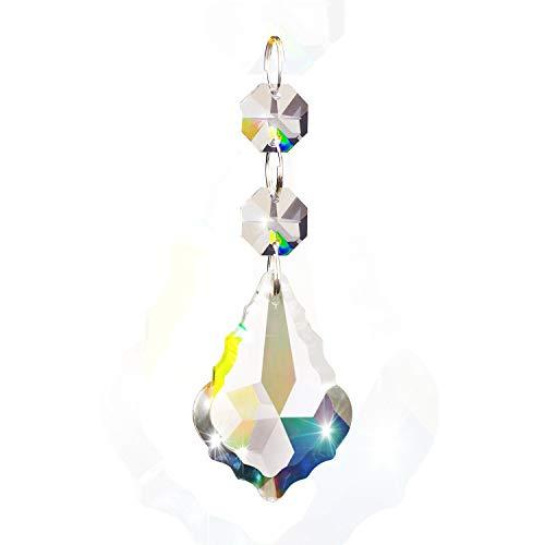 Fushing 10 Piezas De Hojas De Arce De Estilo Cristal De Perlas De Colgantes Soltados De Lámpara De Cadena De Cortina De Lámpara De Prismas Para Decoración De Boda