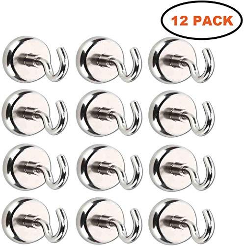 Ganchos magnéticos superpotentes de neodimio, para cocina, cuarto de baño, dormitorio, garaje, caja fuerte, despacho, frigorífico, soporte para llaves