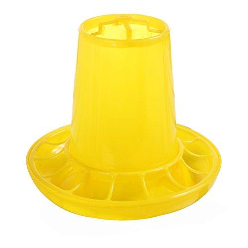 GCDN 1 kg Pollo/Aves/Pato/Gallina Cubo alimentación Accesorios para Alimentos Plástico Amarillo