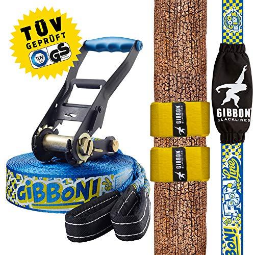 Gibbon Line Accesorios Slackline Set Fun X13 Tree Pro, Blau, 13881, Azul, Talla Única