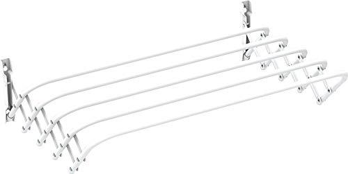 Gimi - Tendedero BRIO 120 Pared, acero, color blanco