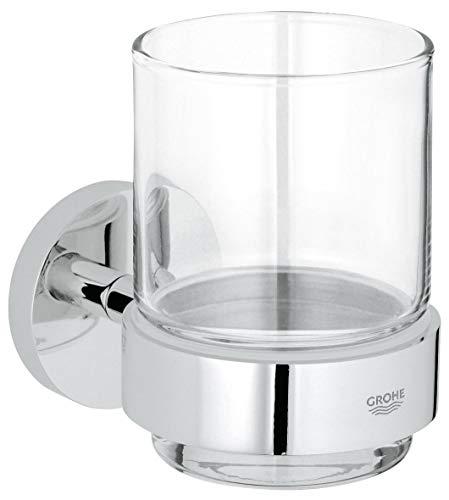 Grohe Essentials - Vaso de cristal con soporte, acabado cromado (Ref. 40447001)