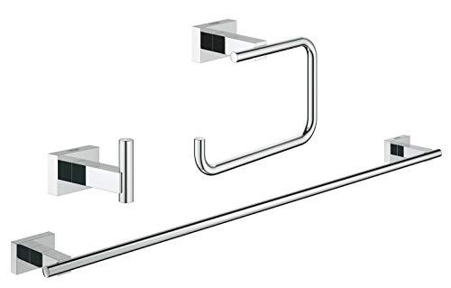 Grohe - Set de accesorios de baño Juego de baño 3 en 1 color Rectangular (cromo) Ref. 40777001