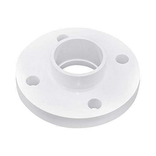 Gtagain Blanco Tubería Accesorios Brida - Agua Suministro Tubería Conector Plástico PVC Jardinería Herramientas 63-200mm