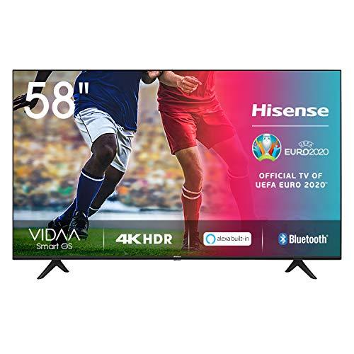 "Hisense 58AE7000F (Modelo 2020) - Smart TV 58"" 4K Ultra HD, HDR, Ultra Dimming, Bluetooth, Alexa Built-in, Botones Acceso Rápido, VIDAA U 3.0 con IA, Escalado UHD"