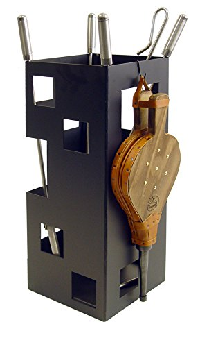 Imex El Zorro 10046 Juego para chimenea, cuadrado (útiles de inox y fuelle, 50 x 20 x 20 cm)