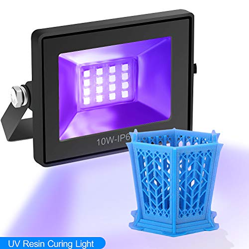 Impresora 3D Luz de Curado de Resina UV para SLA DLP, 【2020 Actualizado】Lámpara de Resina Fotosensible Solidificada, 10W 16 Cuentas LED, Luz de Resina UV de 405nm, Alimentado por USB