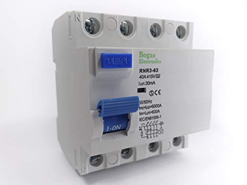 Interruptor Diferencial 40A, 4P Trifásico (3P+N), Clase A SI Super Inmunizado (30mA)