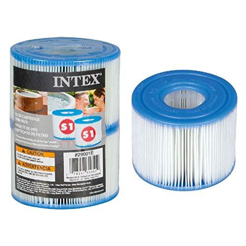 Intex 55000 - Pack de 2 cartuchos SPA tipo S1, altura de 7.5 cm y diámetros de 10.8/4 cm